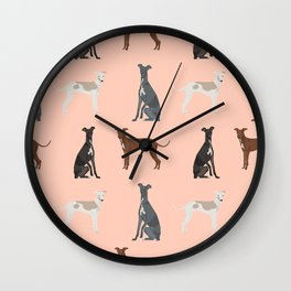 Italian Greyhound dog breed pet portrait unique pure breed gifts Wall Clock