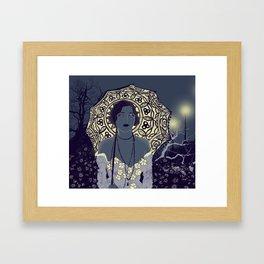 Midnight Mallows Framed Art Print