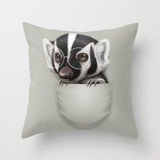 POCKET BADGER Throw Pillow