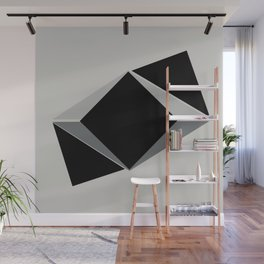 Shapes, black and grays Wall Mural