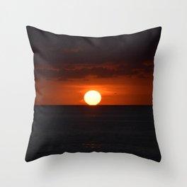 Sunset on the sea Throw Pillow