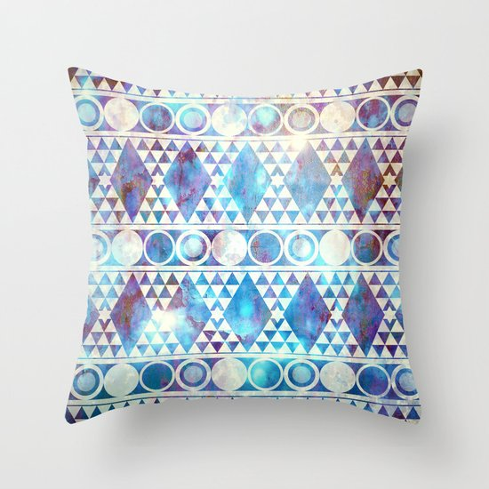 Tribal Storm Throw Pillow