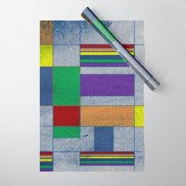 Mid-Century Modern Art - Rainbow Pride 1.0 Wrapping Paper