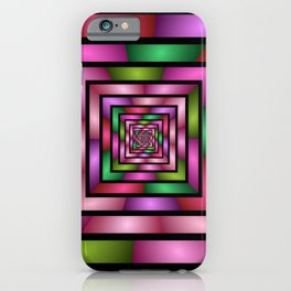 Colorful Tunnel 1 Digital Art Graphic iPhone Case