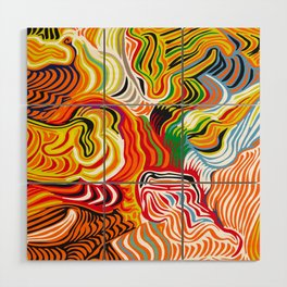 colored flow Wood Wall Art