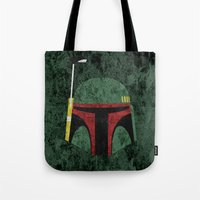 boba fett Tote Bags featuring Boba Fett by Some_Designs