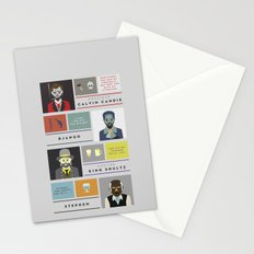 Django Unchained Character Poster Stationery Cards
