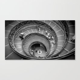 Down the spiral staircase Canvas Print