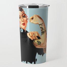 Tattooed Rosie the Riveter Travel Mug