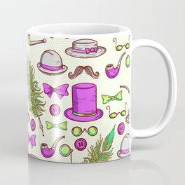 Retro gentlamen pattern Coffee Mug