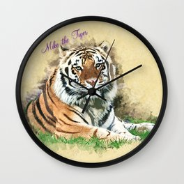 Mike the Tiger Wall Clock