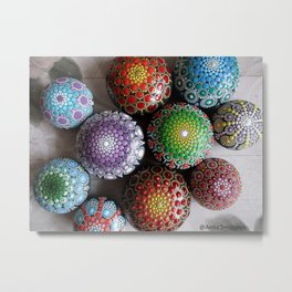 Bright mandala of stones Metal Print