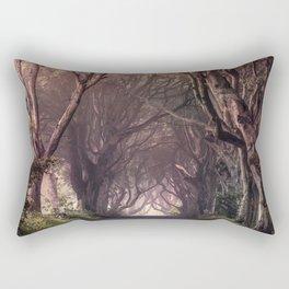 Autumn alley in Northern Ireland Rectangular Pillow