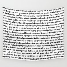 All of me song Wall Tapestry