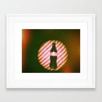 coke Framed Art Prints featuring coke  by Anastasia Bogdanchikova