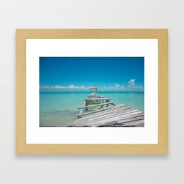 Belize Blues Framed Art Print