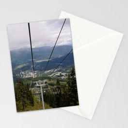 Mountain bike park lifts Stationery Cards