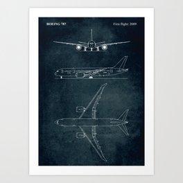 BOEING 787 - First flight 2009 Art Print