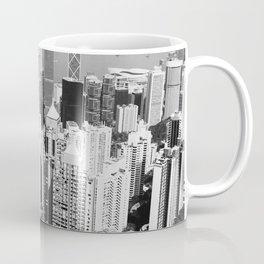 Hong Kong Cityscape // Sky Scraper Skyline Landscape Photography Black and White Buildings Coffee Mug