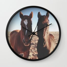 Horse Friends Wall Clock
