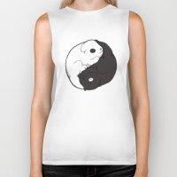 yin yang Biker Tanks featuring Yin & Yang by Lili Batista