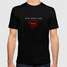 It's not an 's' MEDIUM Mens Fitted Tee Black