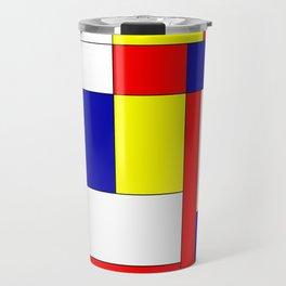 Mondrian #34 Travel Mug