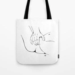 Touching you softly Tote Bag
