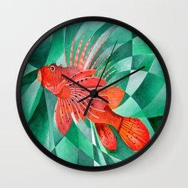Marine Fire Fish or Lionfish Wall Clock