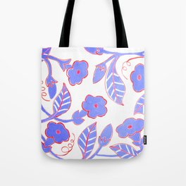 Mandavilla Blue Tote Bag