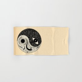 - yin & yang - [collaborative art with famenxt] Hand & Bath Towel
