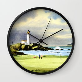 Turnberry Golf Course Scotland 10th Green Wall Clock
