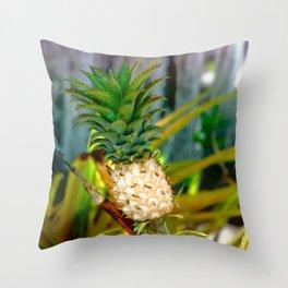 Pineapple Plant Throw Pillow