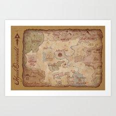 Map of Hyrule- Legend of Zelda Art Print