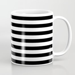 Narrow Horizontal Stripe: Black and White Coffee Mug