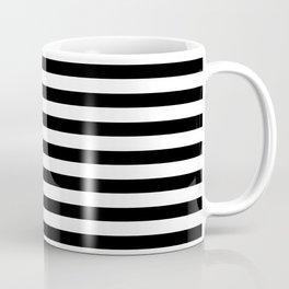 Narrow Horizontal Stripe: Black and White Coffee Mug