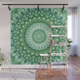 Emerald Green Mandala Wall Mural