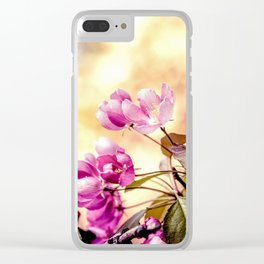 Paradise Apple Blossoms Clear iPhone Case