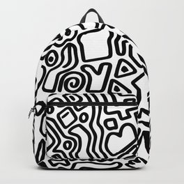 black & white doodle Backpack