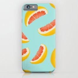 Citrus fruit seamless pattern digital illustration  iPhone Case