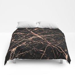 Copper Splatter 091 Comforters