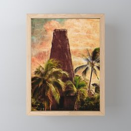 Fijian Temple Framed Mini Art Print
