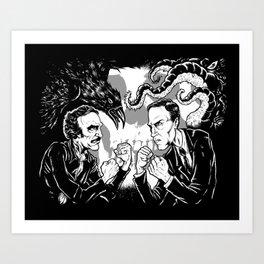 Poe vs. Lovecraft Art Print