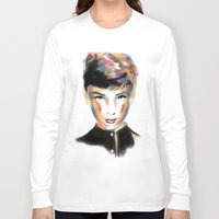 audrey hepburn Long Sleeve T-shirts featuring Audrey Hepburn by caffeboy