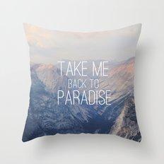 Yosemite Paradise  Throw Pillow