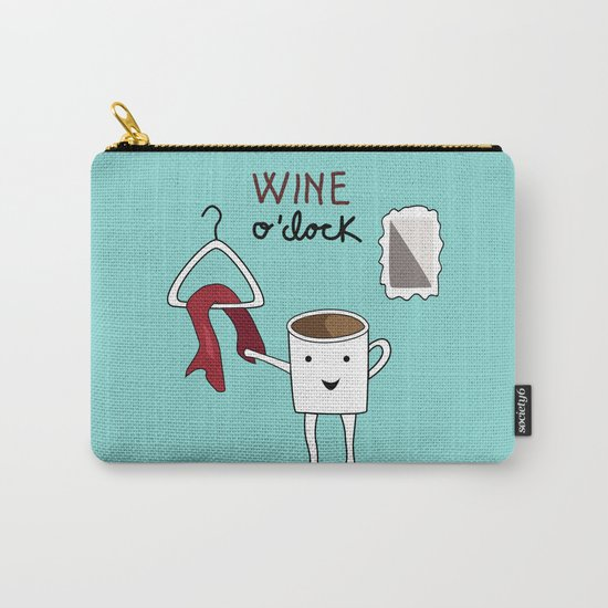 Wine O'clock Carry-All Pouch