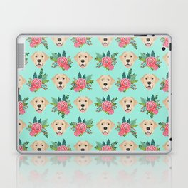 Yellow Labrador Retriever floral bouquet flowers yellow lab dog breed pattern gifts Laptop & iPad Skin