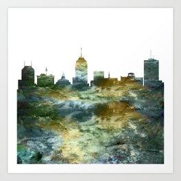 Fresno Skyline California Art Print
