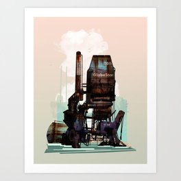 Sea Stacks Art Print