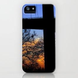 bridge and sunset iPhone Case